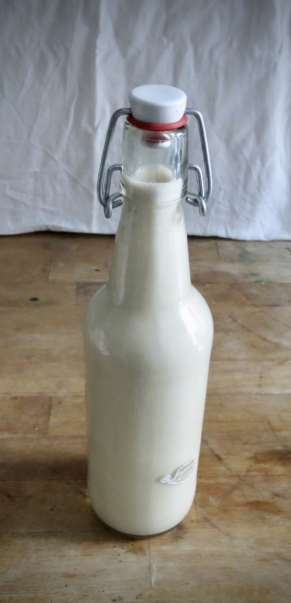 Bottled oat milk