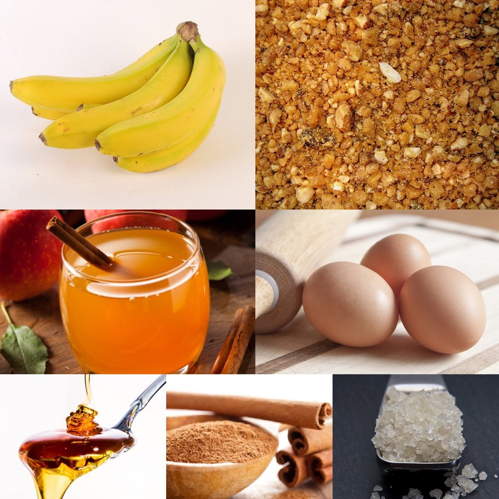 Banana bread ingredients recipe