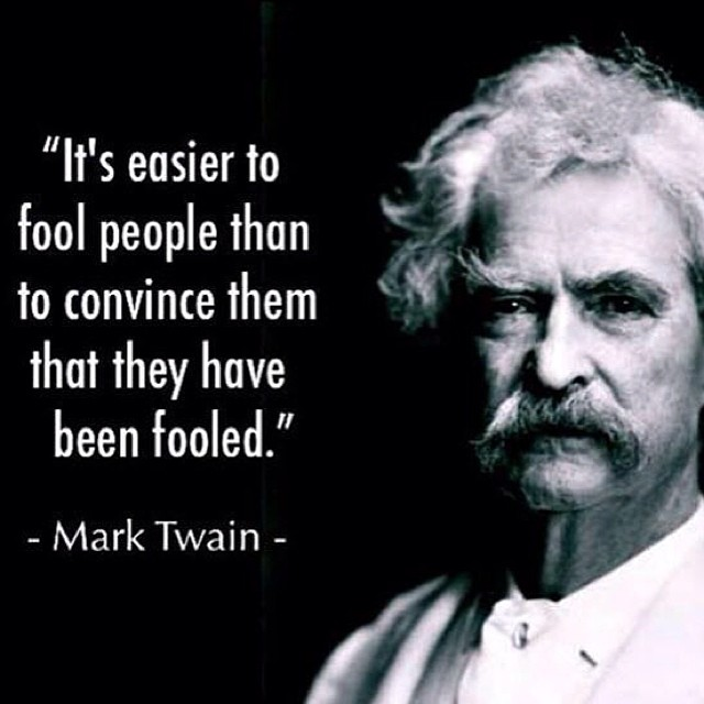 mark twain quote easy fooling people stephcuesta