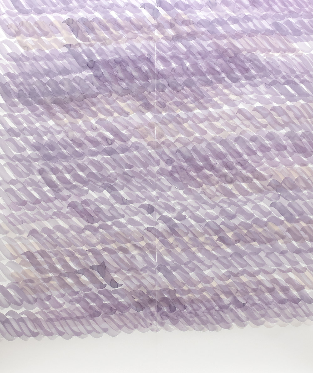 Mircea Cantor,  Words are ropes , 2018 (Wine on acid-free watercolor paper). Courtesy of the artist & VNH Gallery, Paris) ©Photo: Diane Arques [detail]