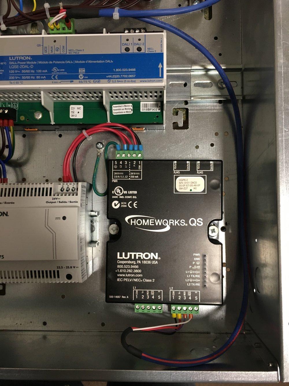 Lutron Wiring Panel - WIRE Center •