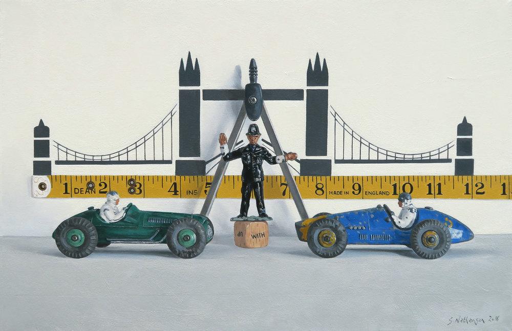 Bridging The Gap,   oil on canvas, 51x71cm (2016)