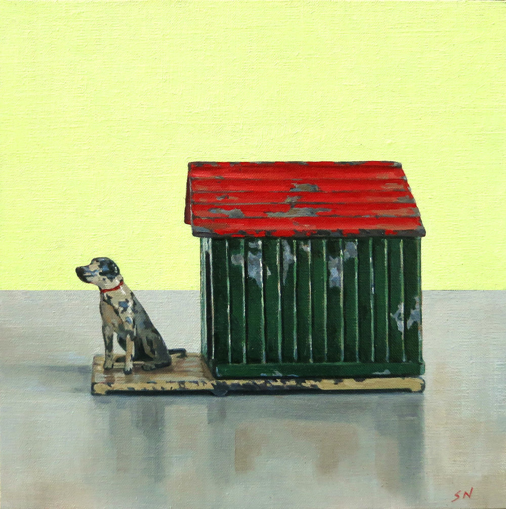 A Dog's Life , Oil on board, 30x30cm