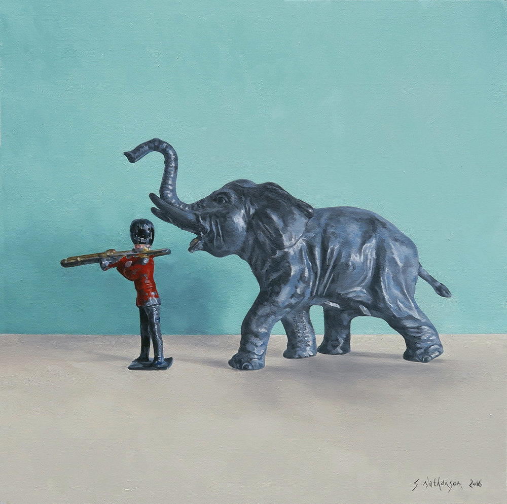 A Little Help, Oil on canvas, 60x60cm