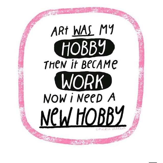 Oh @thejarofsalt has totally hit the nail on the head with this one. Love your work! Hands up if this is you? 🙋🏼‍♀️ #100creatives #podcast #creative #creativitt #hobbies #craft