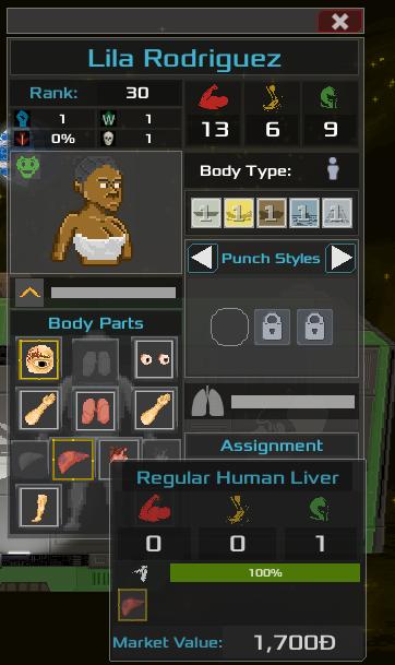 An slightly injured organ, still at 100%