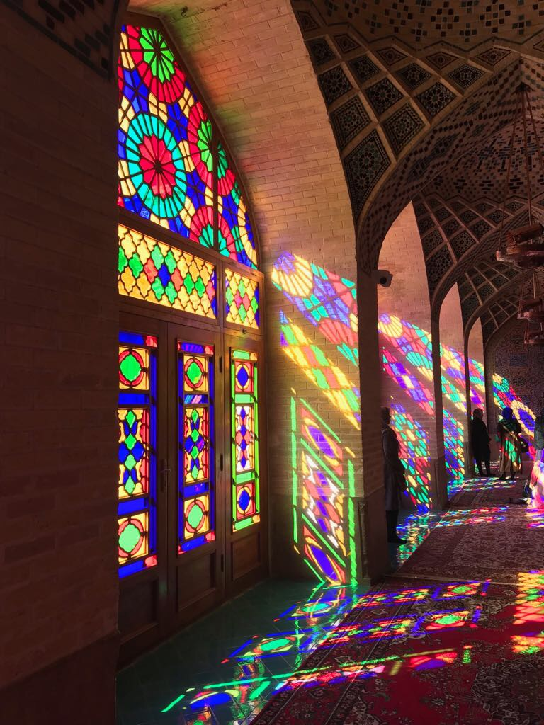 Interior of the Pink Mosque, Shiraz