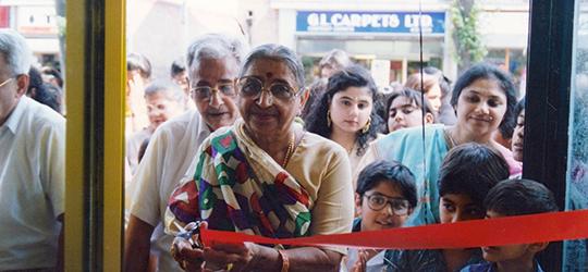 A special moment in history - Bhanji Gokaldas Raniga and Banumati Bhanji Raniga inaugurate Bees!