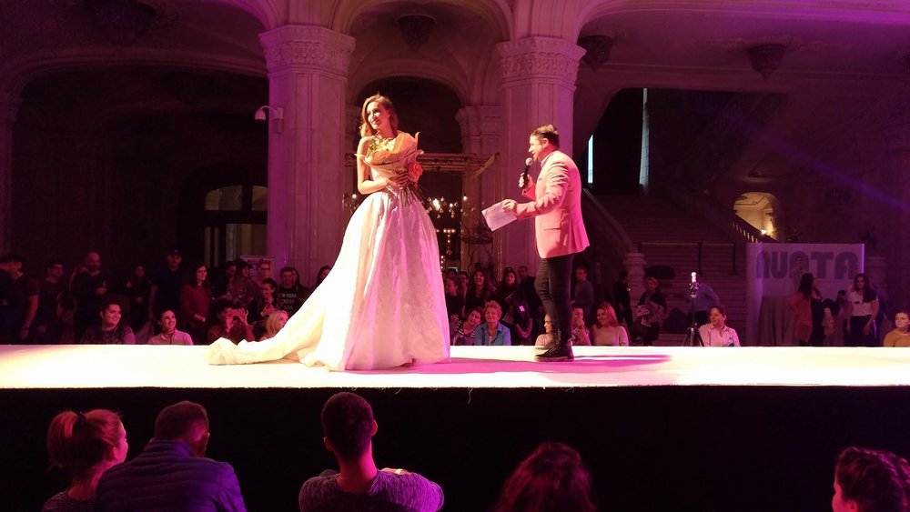 Our wedding dress stealing the spotlight on the Mariage Fest catwalk