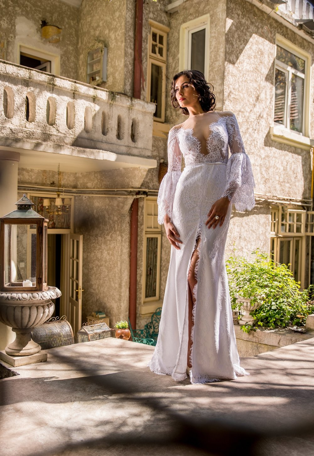 Wear our lace wedding dress Muguet for an ultra romantic look on your big day