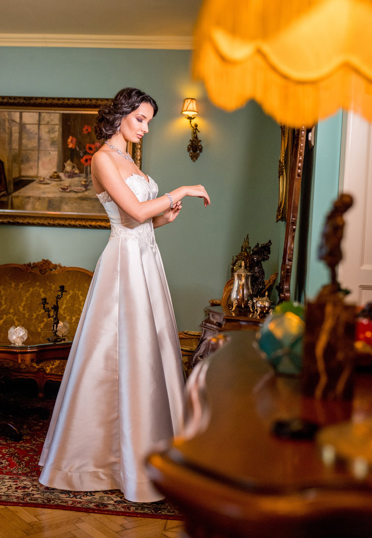 Featured :  Althea , an A-line wedding dress crafted for a soft princess look.