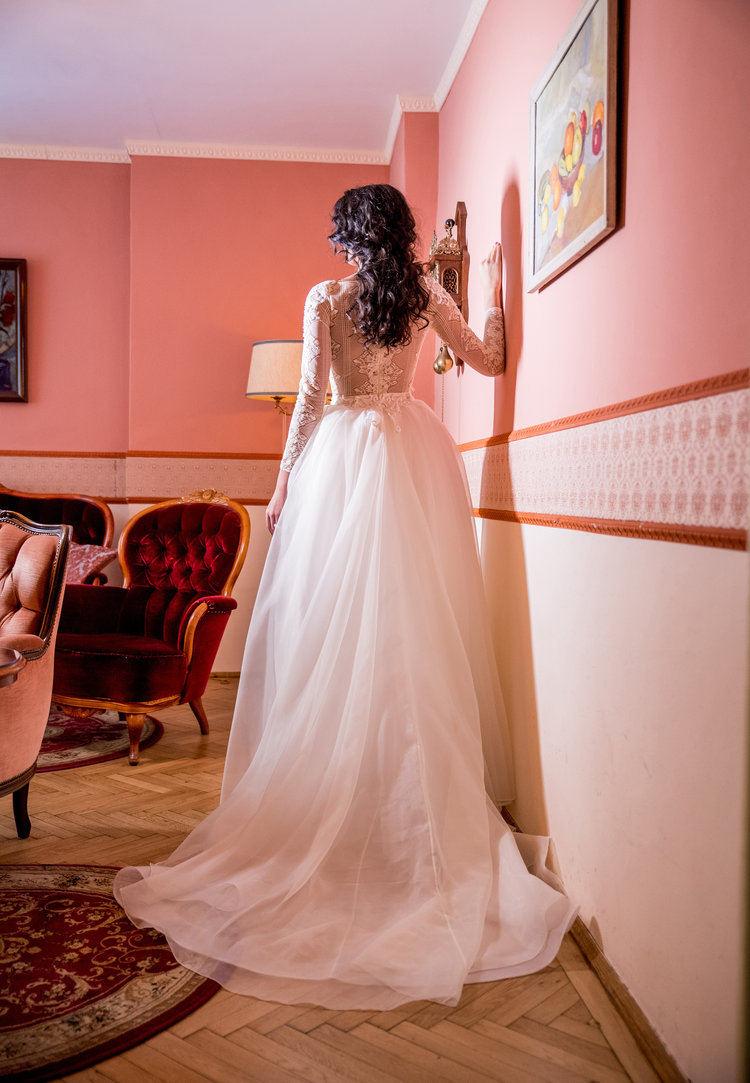 Iris , back view, Fashion by Laina bridal collection