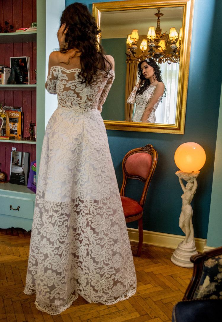 A-line Ivory Lace Wedding Dress - See more at www.fashionbylaina.eu