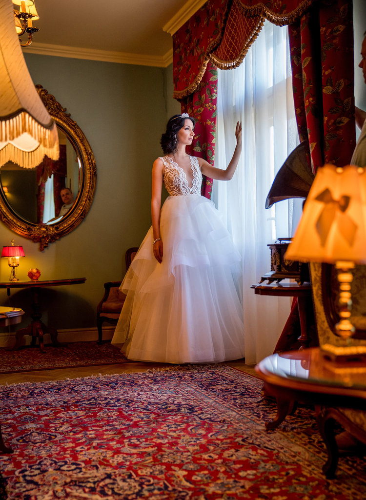 Camélia , front view, Fashion by Laina bridal collection