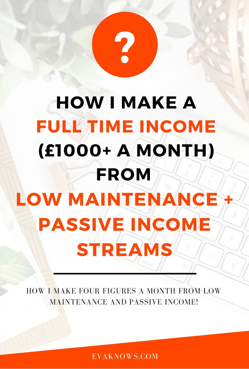 How I Make Full Time Passive Income | Passive Income Ideas | Passive Income streams | Make Money Online | Building Wealth | How to Generate Passive Income via www.evaknows.com