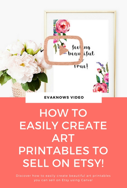 How to easily create art printables to sell on Etsy video tutorial! Watch it here now!
