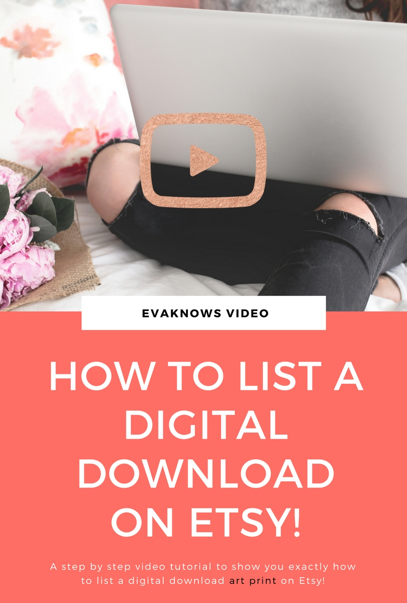 How to list a digital download on Etsy | passive income | make money online | Etsy tutorial | how to make passive income | sell digital downloads | wealth building