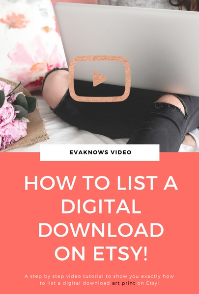 How to list a digital download on Etsy | Passive Income | How to make Passive Income | How to make money online | make money online | How to sell digital downloads on Etsy | Etsy Seller | Etsy Blog