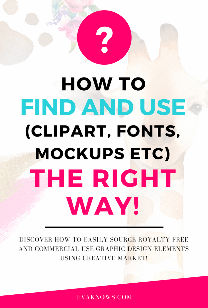 how to download clipart | How to find commercial use clipart | Creative Market | Creative Market tutorial | how to find fonts | Royalty free graphics | Where to find commercial use clipart | graphic design