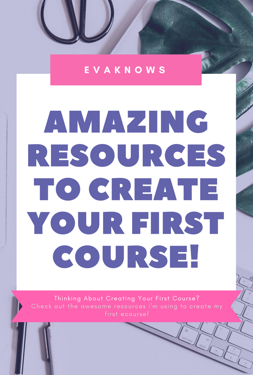 Amazing Resources To Help Create Your First Ecourse | Passive Income | How to create a course | course creation | How to make money online | Course by numbers | Evaknows blog | Teachable Review