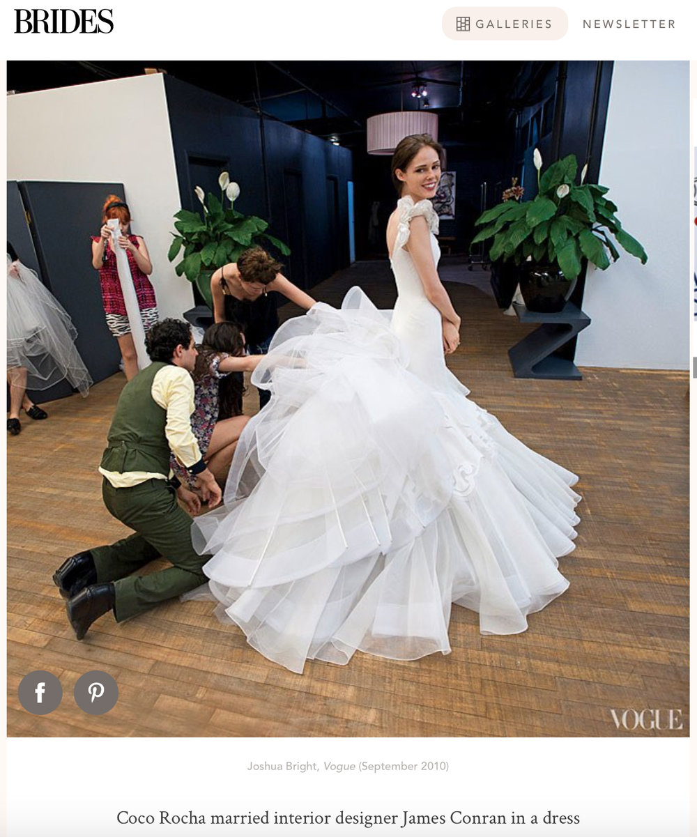 Coco & Zac - We photographed Coco Rocha being fitted for her wedding dress by Zac Posen for Vogue Magazine.