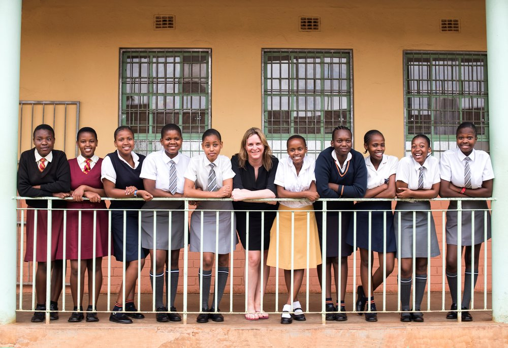 Janneke Niessen's visit to UNICEF TechnoGirls in South Africa