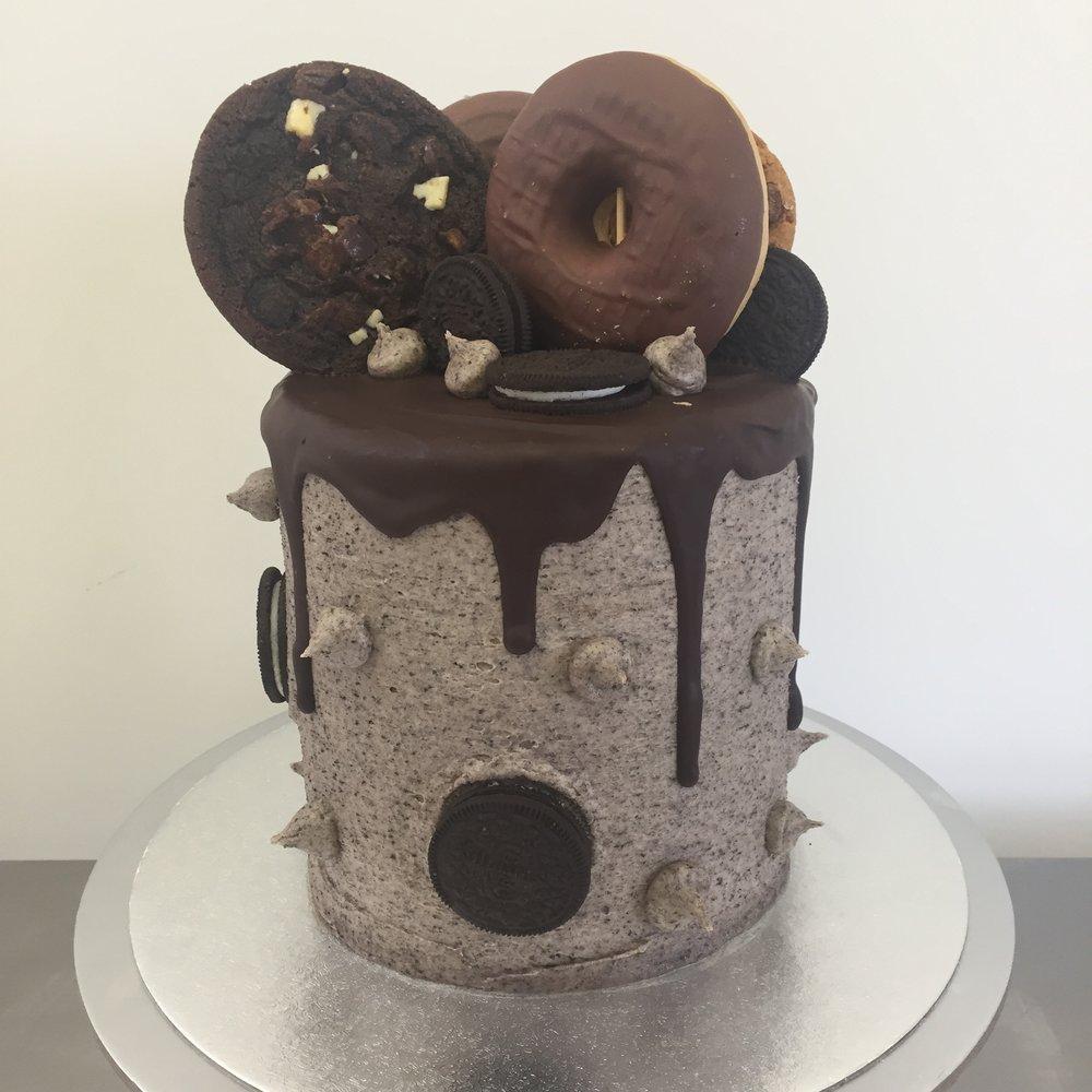 Chocolate cookie Oreo drip cake in Norfolk