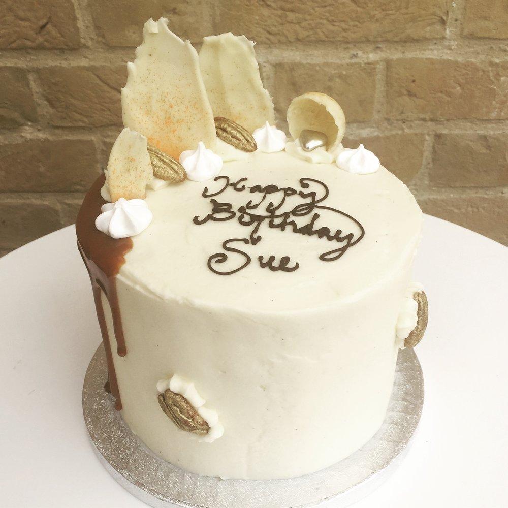 Carrot cake drip cake