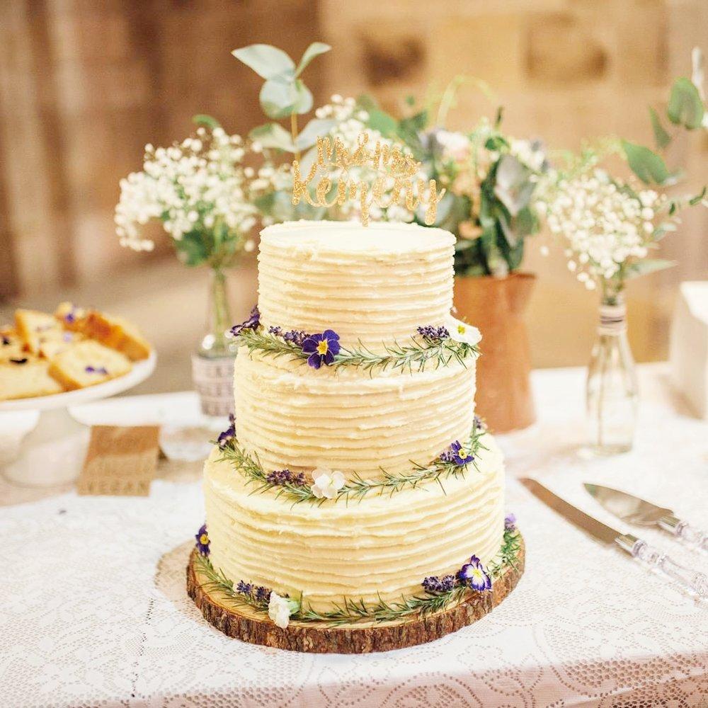 Simple rustic wedding cake norfolk