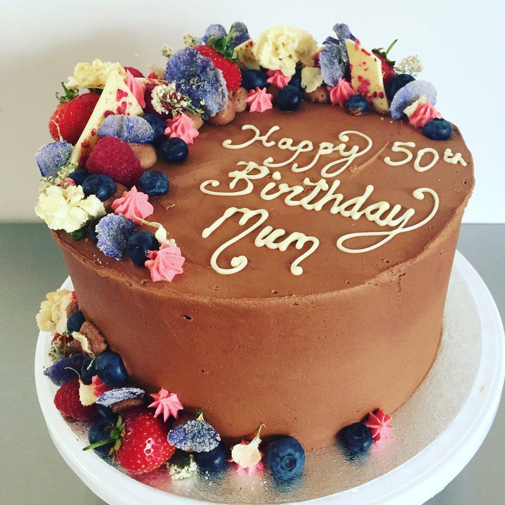 Flower birthday cake Norfolk