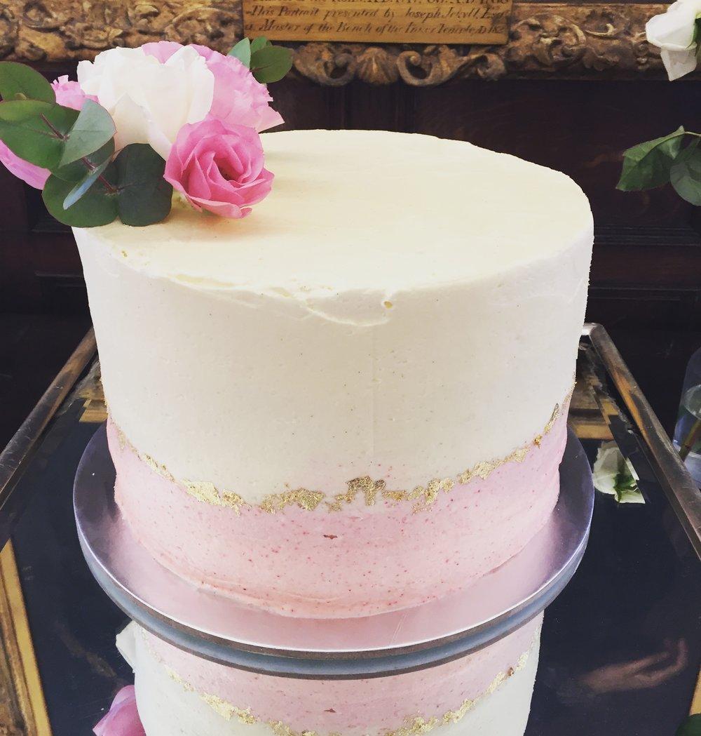 Fresh flower bespoke wedding cake norfolk