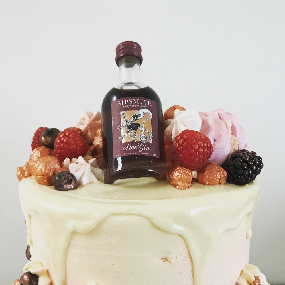 Gin and Tonic drip cake Norfolk