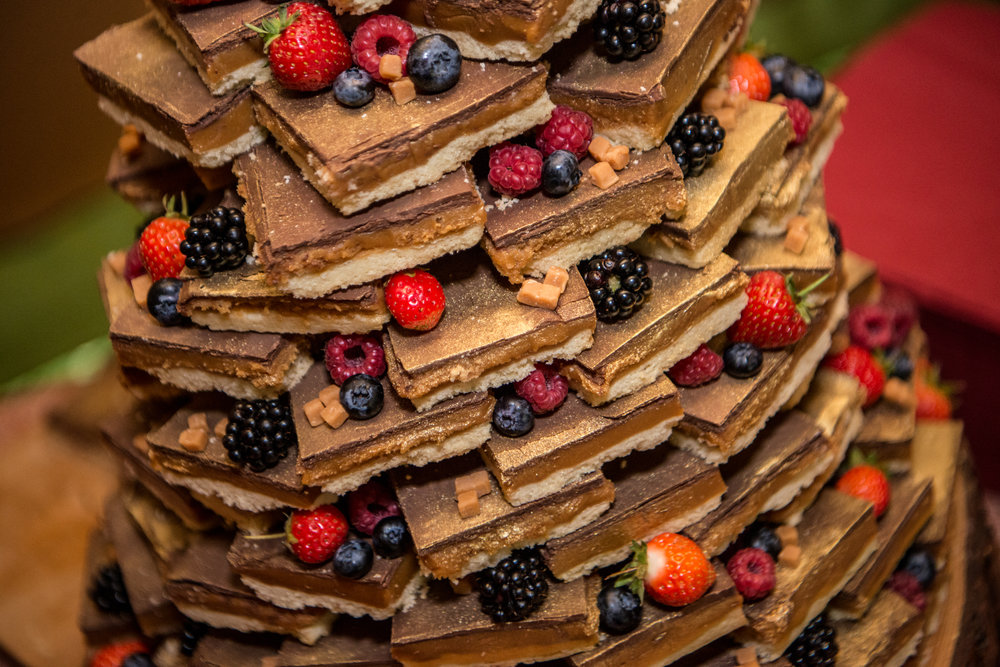 brownie wedding cake tower