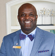 "Brian Grantham, General Manager and Army Veteran - Throughout the day Brian oversees all management and operational aspects of the hotel. He enjoys helping people in many different ways and says, ""There is no one day that is like the next, which keeps me sharp."" His advice for transitioning service members is to ""take advantage of everything that the Transition Office has available to you."""