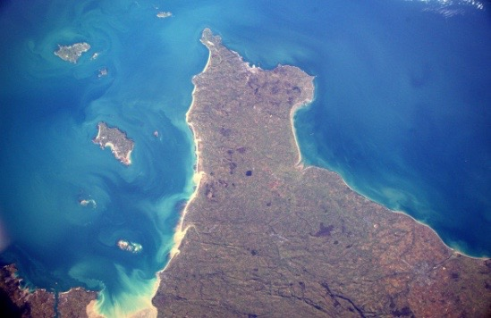- Our beautiful island jersey from space