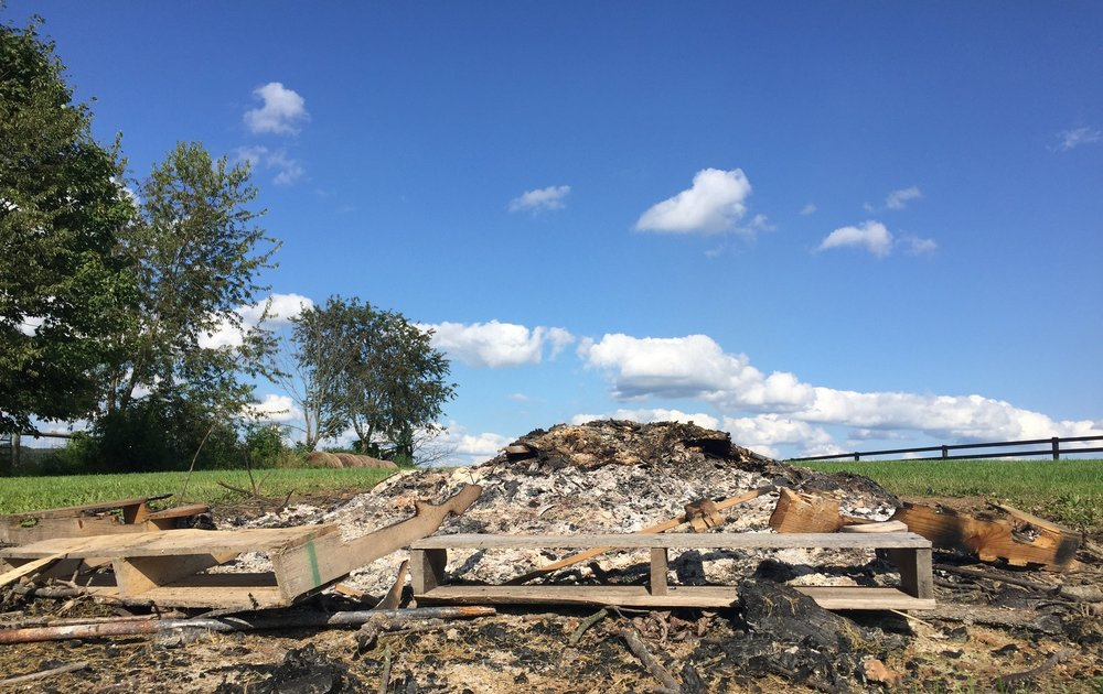 Burn piles can come in handy for getting rid of all sorts of garbage.