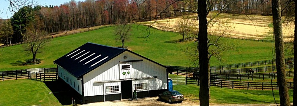 Shamrocks on our barn are hokey, but ... sure, they're grand.
