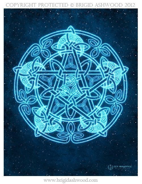 Celtic Moon Pentacle