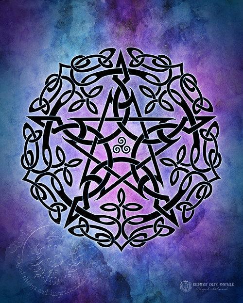 Celtic Pentacle - Blue/Purple
