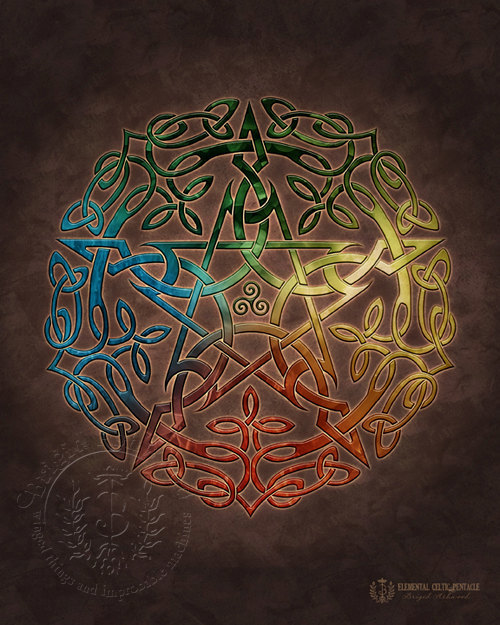 Celtic Elemental Pentacle
