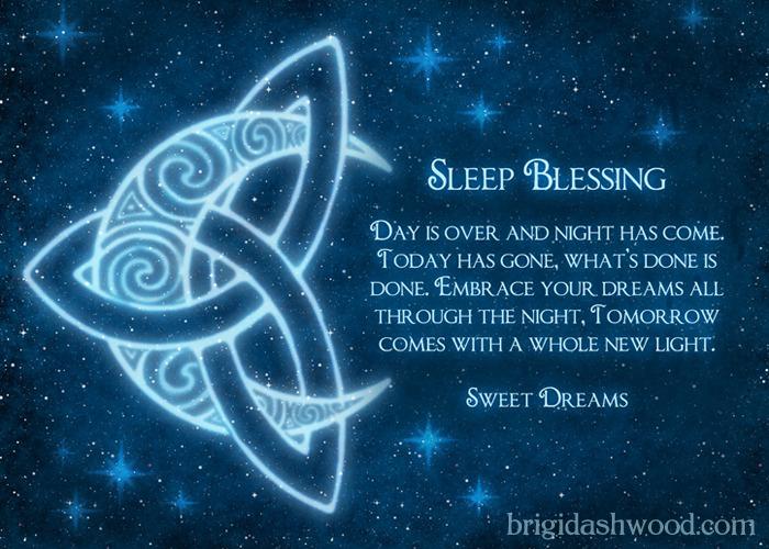 Celtic Moon Sleep Blessing