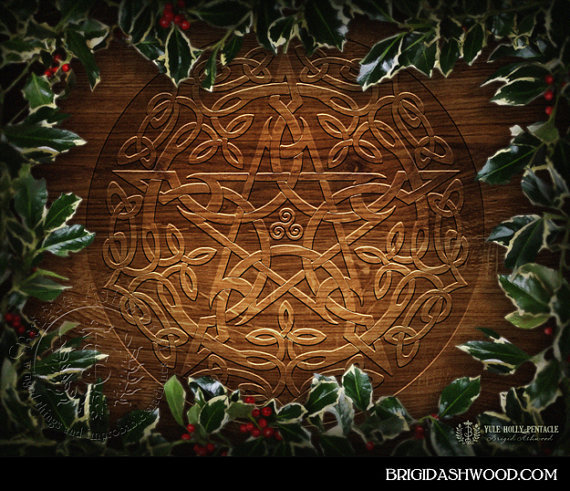 Yule Holly Pentacle