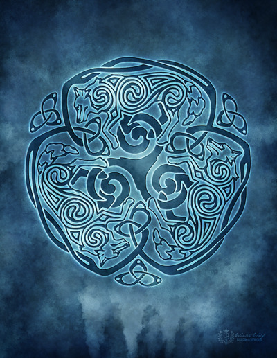 Celtic Wolf Knotwork