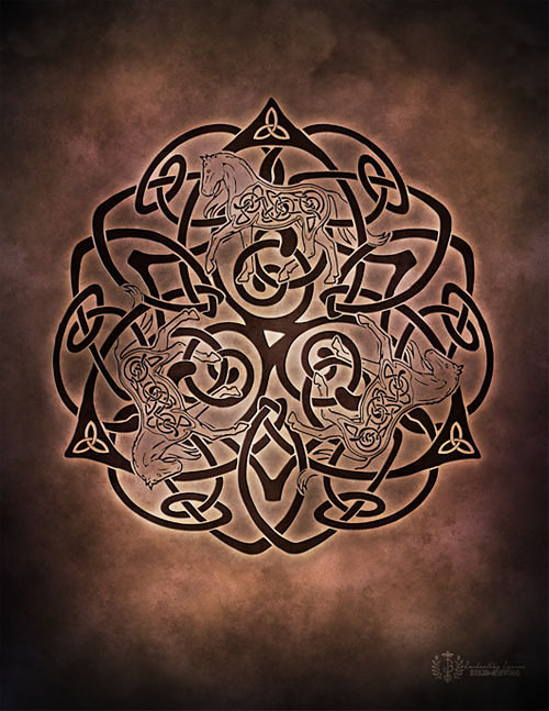 Celtic Horse Knotwork