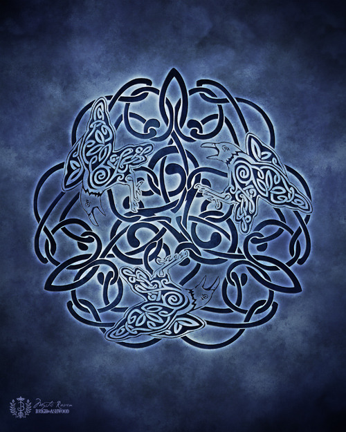 Celtic Raven Knotwork