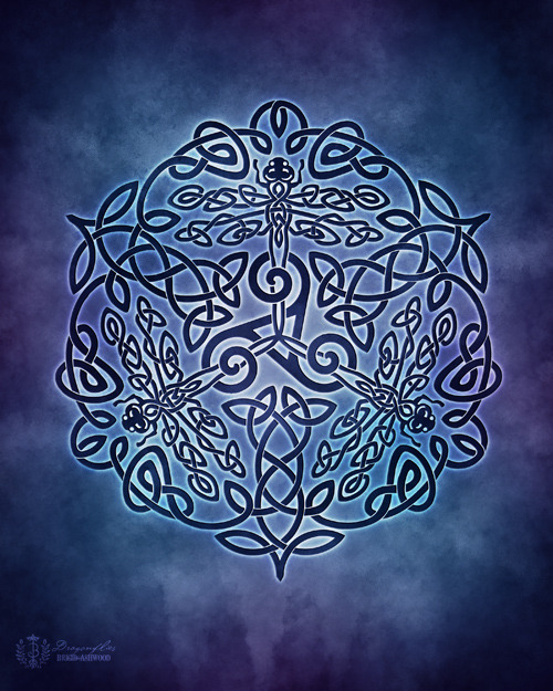 Celtic Dragonflies Knotwork