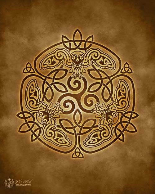 Celtic Owl Knotwork