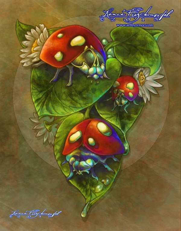 Lady Bugs Three