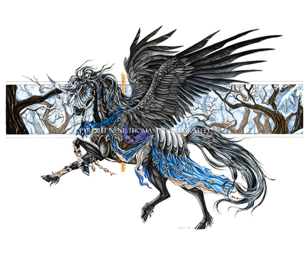 Carousel Horse Raven Black