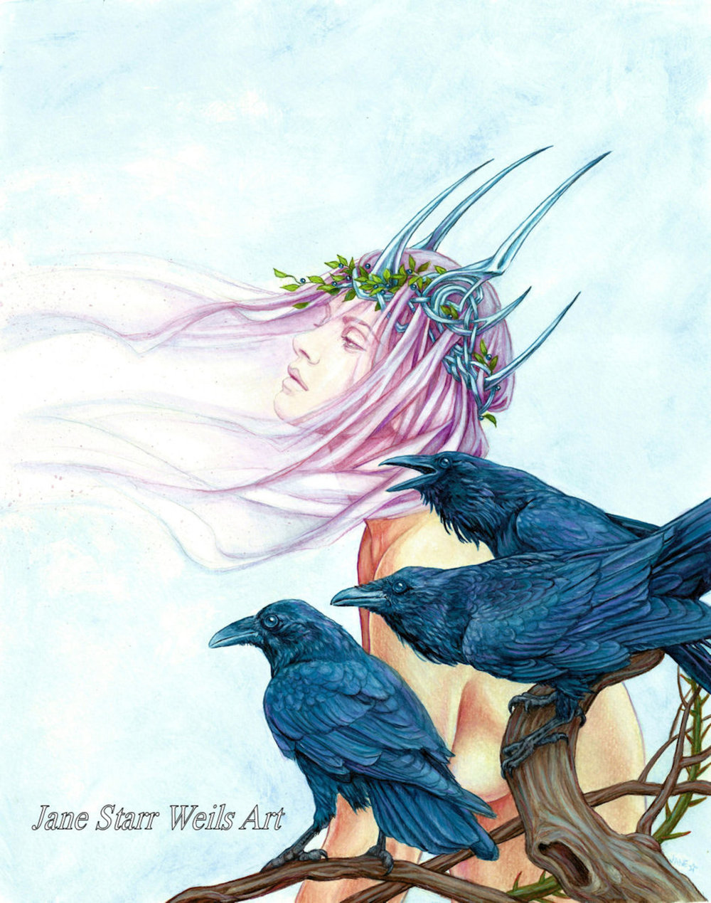 Morrighan and Her Ravens